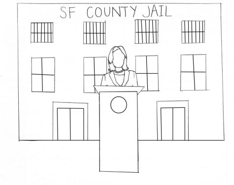 "Kamala Harris was far from a ""progressive prosecutor."" (Illustration by Caroline Goodhart)"