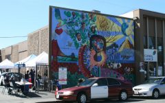 """""""True Colors"""" mural painted outside the Canal Alliance is also a temporary COVID-19 testing center at 91 Larkspur Street."""