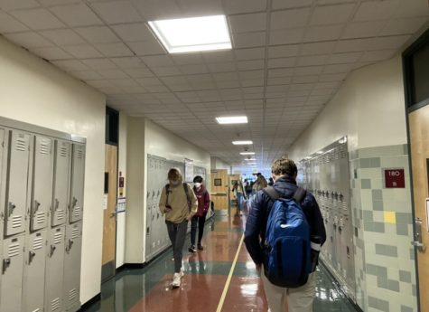 Redwood students walk through the hallways again after almost a year of online school.