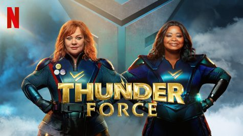 "Melissa McCarthy (left) and Octavia Spencer (right) star in ""Thunder Force"" a Netflix Original Movie about two friends joining together to save the city of Chicago from a dangerous group of superhumans called the Miscreants. (Courtesy of Netflix Media Center)"