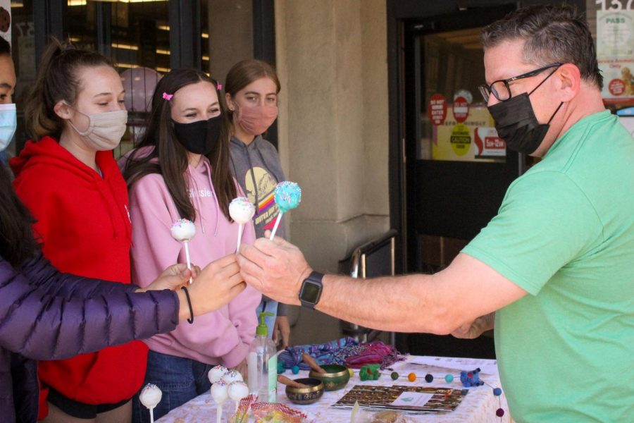 The Make-A-Wish club fundraises for cancer patients in Nepal by selling baked goods outside of the Safeway in Corte Madera.