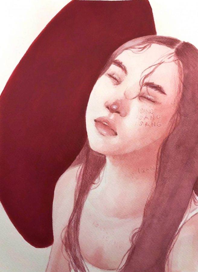 """The last piece in Kacey Douglas' portfolio is a monochromatic piece called """"isang babae"""
