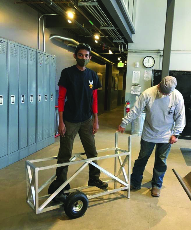 Junior Varun Aruldas achieves Eagle Scout title by building weed wrench cart